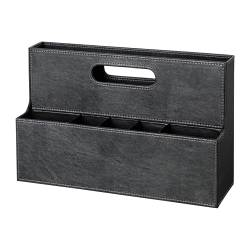 KNÖS storage rack for writing materials, black Width: 32 cm Depth: 10 cm Height: 20 cm
