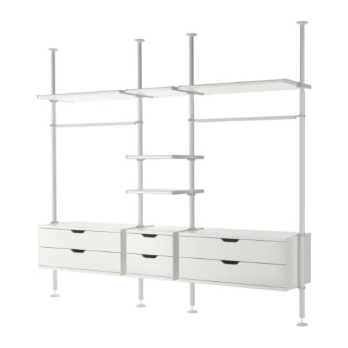 cabine armadio ikea : have a 5-section Stolmen setup to sell. It was planned out like this ...