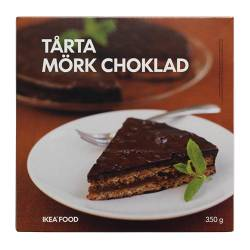 TÅRTA MÖRK CHOKLAD almond cake w dark chocolate frozen Net weight: 350 g