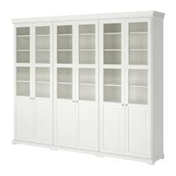 LIATORP storage combination with doors, white Width: 276 cm Depth: 37 cm Height: 214 cm