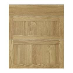 TIDAHOLM drawer front, set of 3, oak/oak veneer Width: 40 cm Height: 70 cm