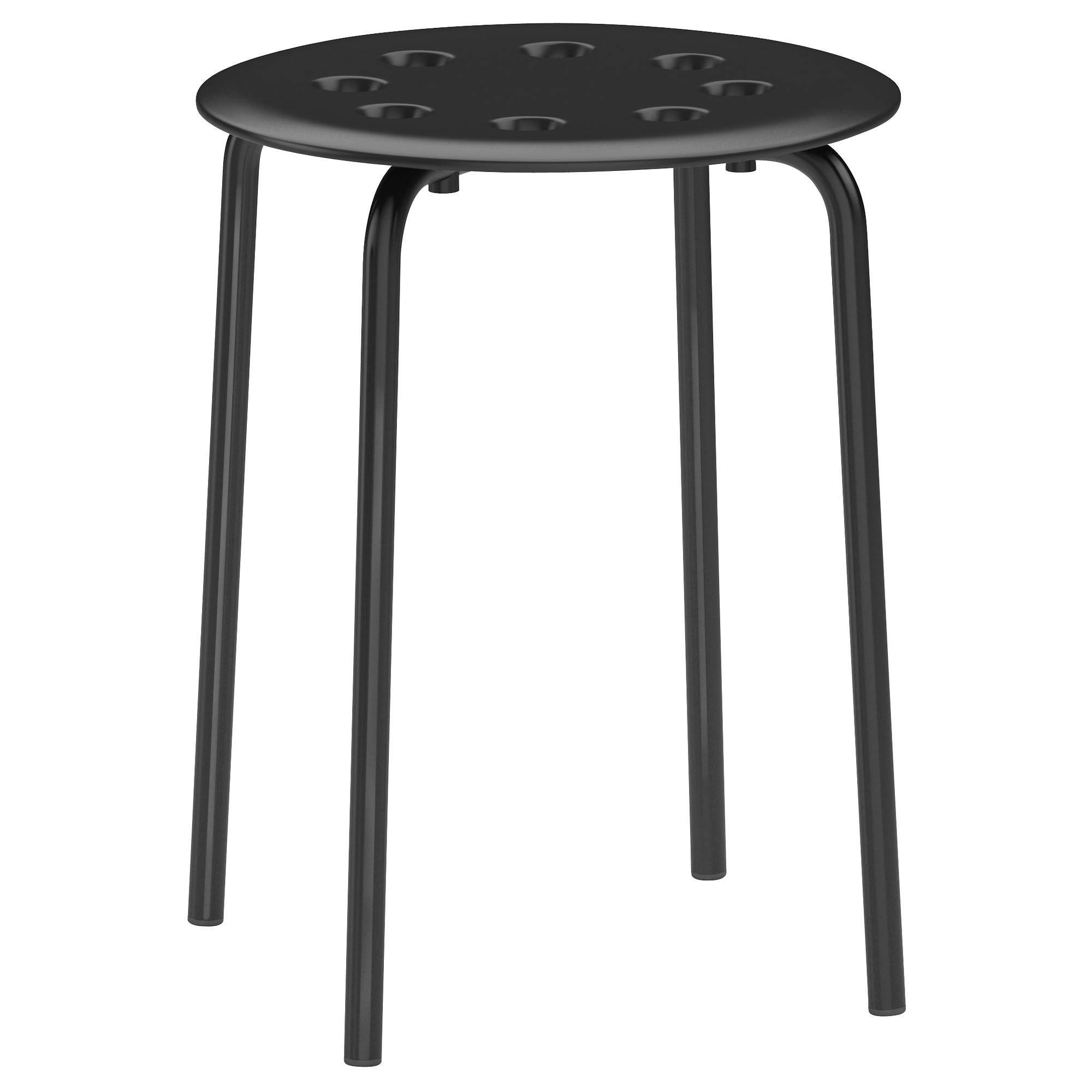 MARIUS Stool, Black Tested For: 220 Lb Seat Diameter: 12 5/8