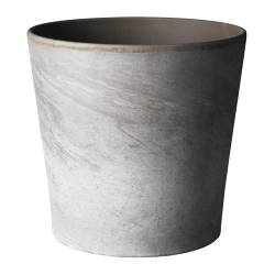 "MANDEL plant pot, gray-brown Outside diameter: 6 ¼ "" Max. diameter inner pot: 5 ½ "" Height: 5 ½ "" Outside diameter: 16 cm Max. diameter inner pot: 14 cm Height: 14 cm"
