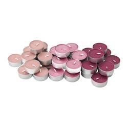 "TINDRA scented tealight, pink Diameter: 1 ½ "" Burning time: 3.5 hr Package quantity: 36 pack Diameter: 38 mm Burning time: 3.5 hr Package quantity: 36 pack"