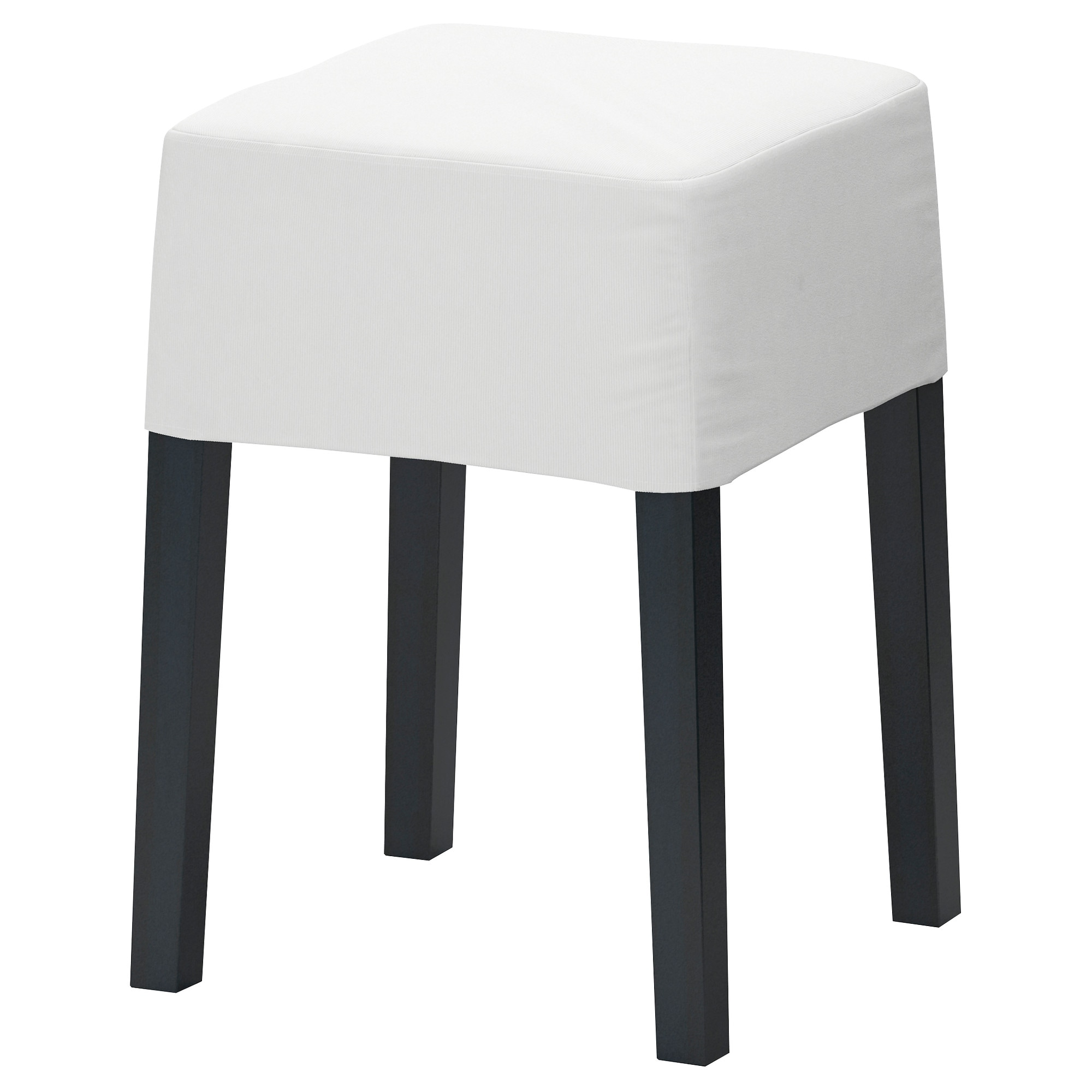 Wonderful NILS Stool, Black, Blekinge White Tested For: 243 Lb Seat Width: 13