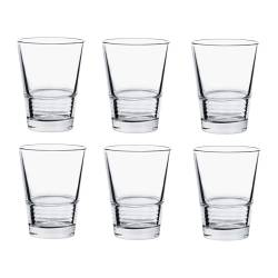 VÄNLIG glass, clear glass Height: 10 cm Volume: 22 cl Package quantity: 6 pack