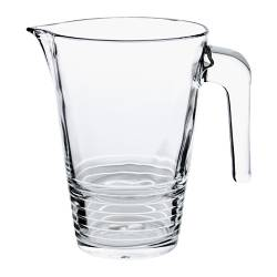 "VÄNLIG jug, clear glass Height: 7 "" Volume: 34 oz Height: 19 cm Volume: 1 l"
