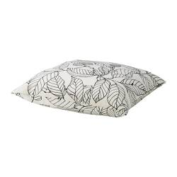 STOCKHOLM cushion, black leaves, white white/black Length: 55 cm Width: 55 cm Filling weight: 900 g