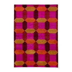 IKEA STOCKHOLM FIGUR rug, low pile, pink, multicolour Length: 240 cm Width: 170 cm Surface density: 4150 g/m²