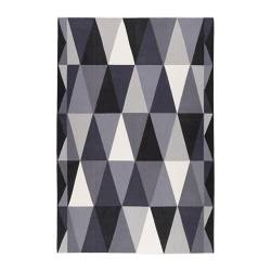 "IKEA STOCKHOLM rug, flatwoven, gray, black Length: 9 ' 10 "" Width: 6 ' 7 "" Surface density: 5 oz/sq ft Length: 300 cm Width: 200 cm Surface density: 1450 g/m²"