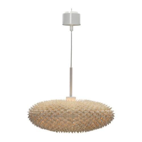 "IKEA PS VÄVA Pendant lamp natural Diameter: 21 "" Height: 8 "" Cord length: 5 ' 11 ""  Diameter: 53 cm Height: 19.5 cm Cord length: 1.8 m"