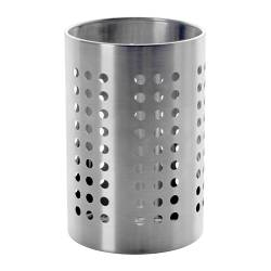 "ORDNING kitchen utensil rack, stainless steel Diameter: 4 3/4 "" Height: 7 1/8 "" Diameter: 12 cm Height: 18 cm"