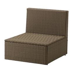 ARHOLMA one-seat section, outdoor, brown
