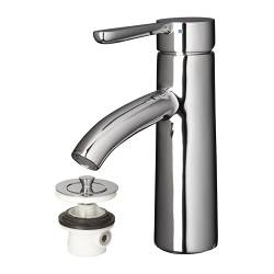 "DALSKÄR bath faucet with strainer, chrome plated Height: 7 1/8 "" Height: 18 cm"