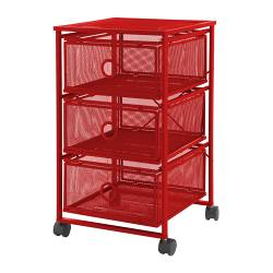 "ANDY Drawer unit on casters red Width: 14 5/8 "" Depth: 14 5/8 "" Height: 23 1/4 ""  Width: 37 cm Depth: 37 cm Height: 59 cm"
