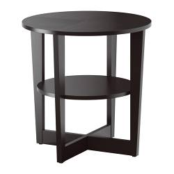 VEJMON side table, black-brown Diameter: 60 cm Height: 60 cm