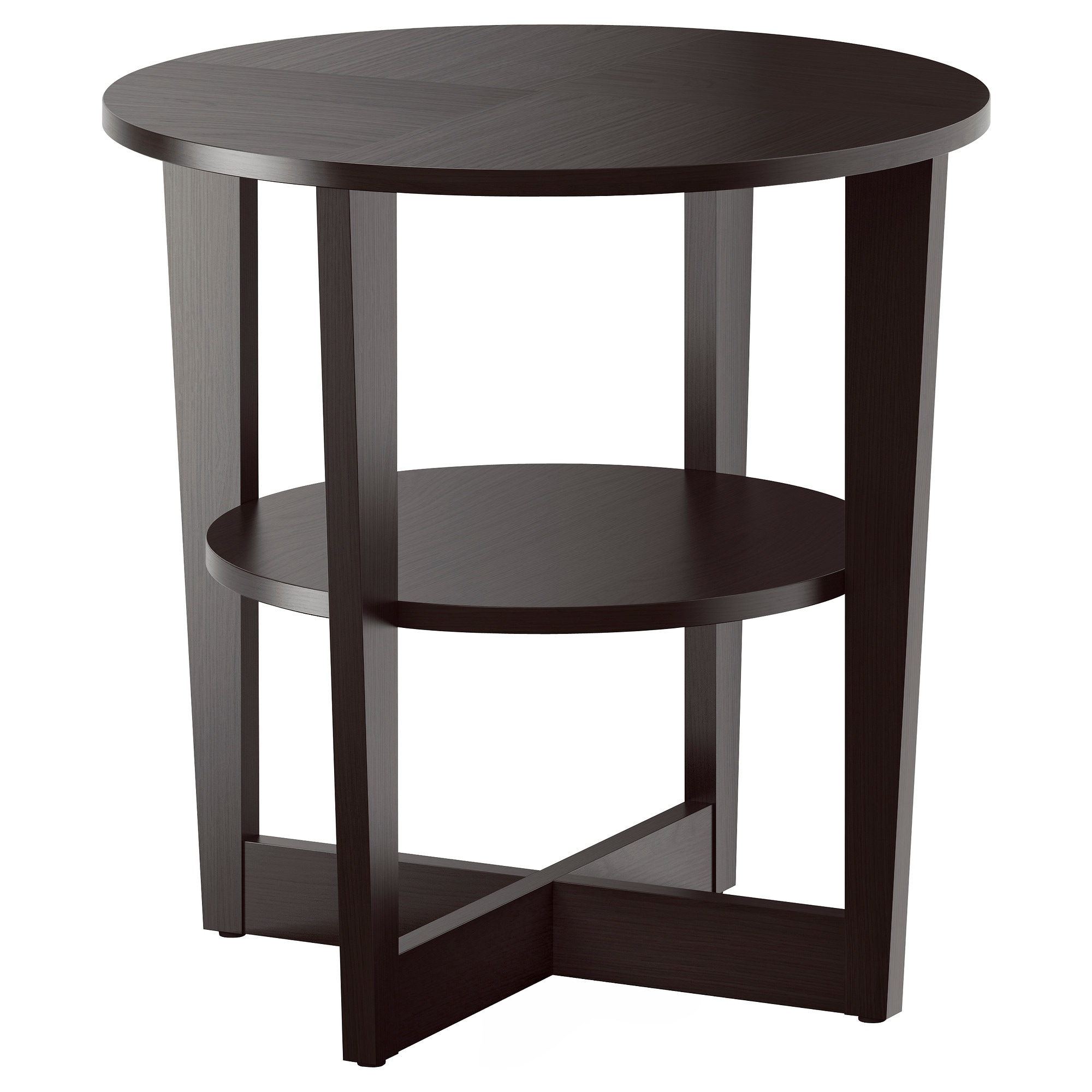 Ikea leksvik coffee table - Vejmon Side Table Black Brown Height 23 5 8 Diameter