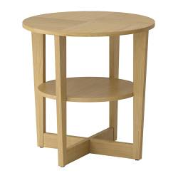 VEJMON side table, oak veneer Diameter: 60 cm Height: 60 cm