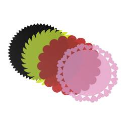 DRÖMMAR cake-doily, assorted designs, assorted colours Diameter: 18 cm Package quantity: 4 pack