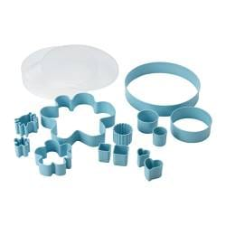 "DRÖMMAR 14-piece pastry cutter set in box, light blue Diameter: 9 "" Height: 2 "" Diameter: 23 cm Height: 4 cm"