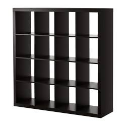EXPEDIT shelving unit, black-brown Width: 149 cm Depth: 39 cm Height: 149 cm