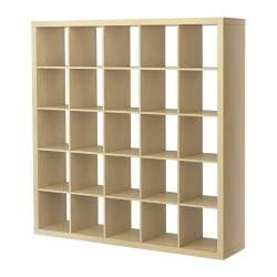 EXPEDIT shelving unit, birch effect Width: 185 cm Depth: 39 cm Height: 185 cm