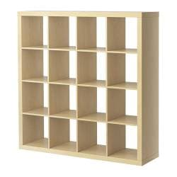 EXPEDIT shelving unit, birch effect Width: 149 cm Depth: 39 cm Height: 149 cm