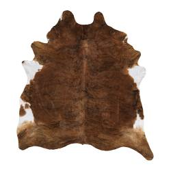 KOLDBY cow hide, white, brown Max. area: 4.50 m² Min. area: 3.20 m²