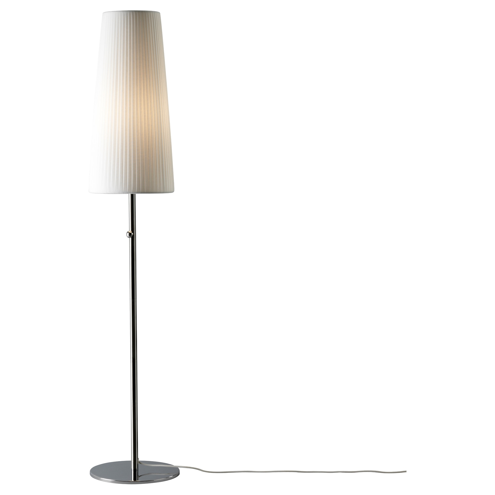 IKEA 365+ LUNTA floor lamp with LED bulb, chrome plated Height: 65