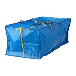 "FRAKTA storage bag for cart, blue Depth: 13 ¾ "" Height: 11 ¾ "" Max. load: 55 lb Depth: 35 cm Height: 30 cm Max. load: 25 kg"