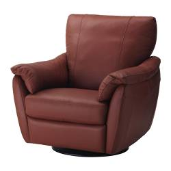 ÄLVROS swivel/rocking/reclining/armchair, Mjuk medium red Width: 102 cm Depth: 94 cm Height: 92 cm