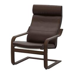 POÄNG armchair, brown, Glose Robust dark brown