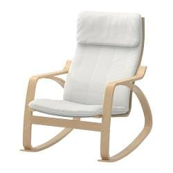 POÄNG rocking-chair, Alme natural, birch veneer Width: 68 cm Depth: 94 cm Height: 95 cm