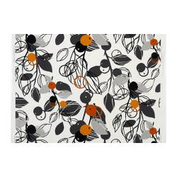 MAJKEN fabric, orange, white/light grey Width: 150 cm Pattern repeat: 92 cm