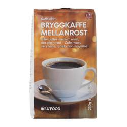 BRYGGKAFFE MELLANROST decaffeinated coffee, UTZ certified Net weight: 8.8 oz Net weight: 250 g