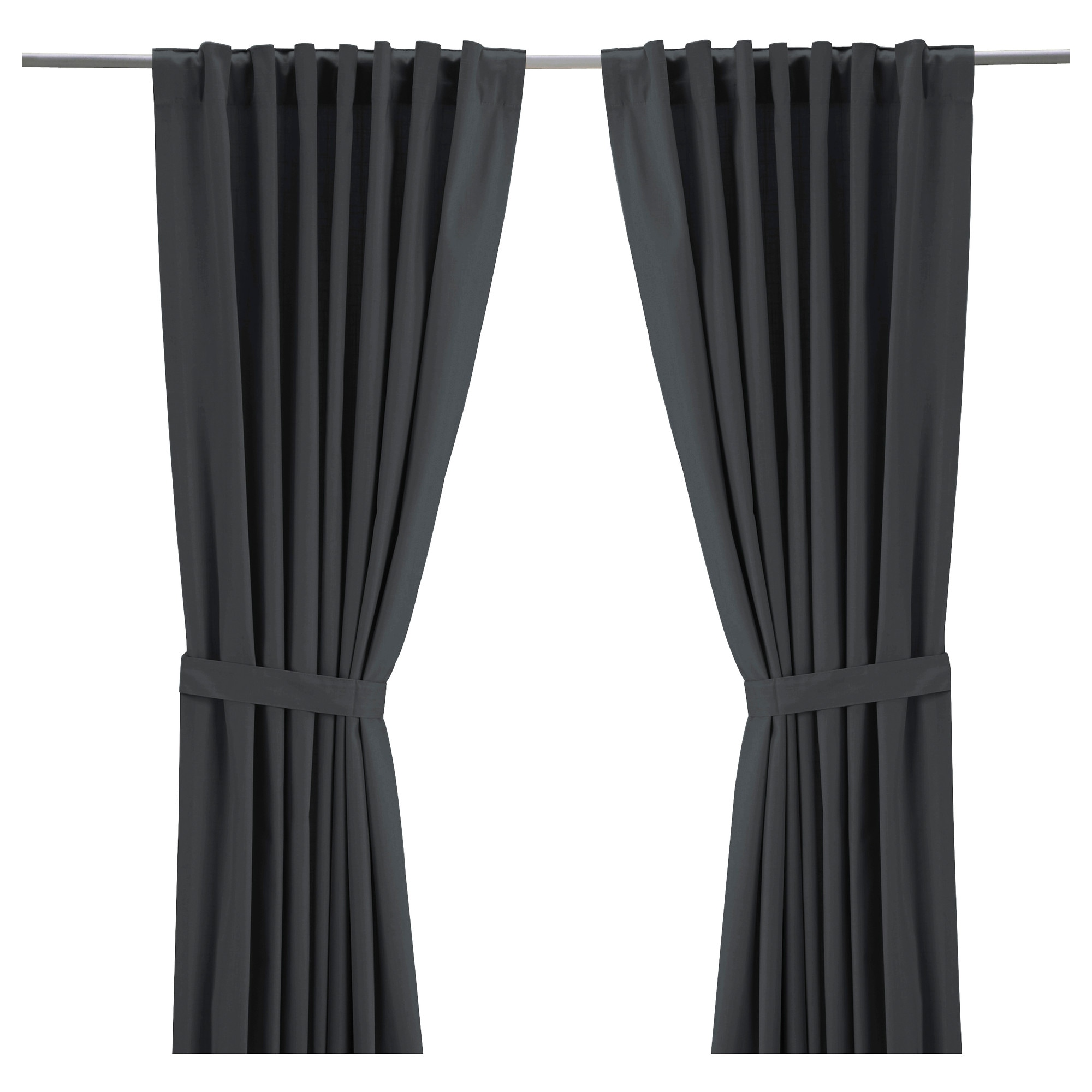 RITVA Curtains with tie-backs, 1 pair - 57x118 \