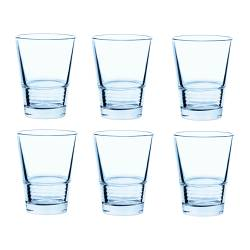 VÄNLIG glass, light blue Height: 10 cm Volume: 22 cl Package quantity: 6 pack