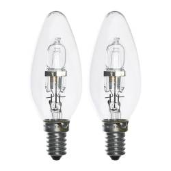 HALOGEN bulb E14, clear Power: 28 W Package quantity: 2 pack