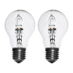 HALOGEN bulb E27, clear Power: 70 W Package quantity: 2 pack