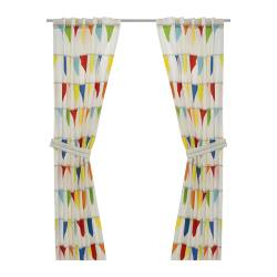 VITAMINER VIMPEL pair of curtains with tie-backs, multicolour Length: 300 cm Width: 120 cm