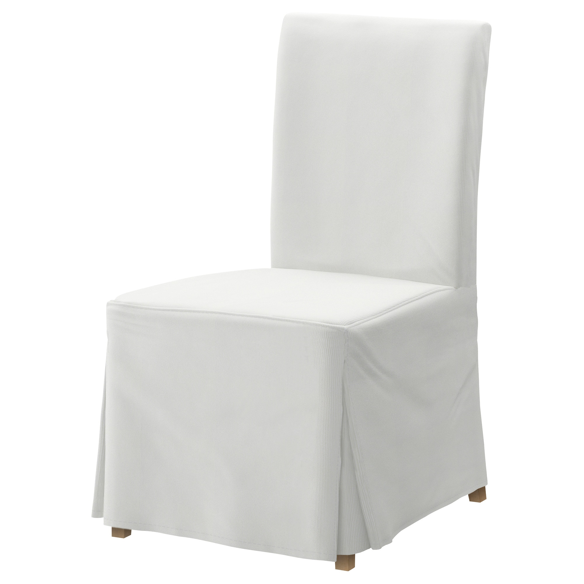 HENRIKSDAL Chair with long cover Blekinge white birch IKEA