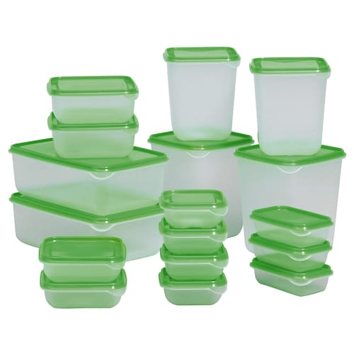 IKEA PRUTA Food container, set of 17