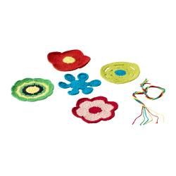 LUSY decoration, set of 5, assorted colours Diameter: 13 cm