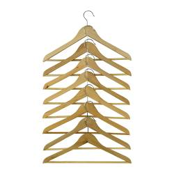BUMERANG curved clothes hanger, natural Width: 43 cm Thickness: 14 mm Package quantity: 8 pieces