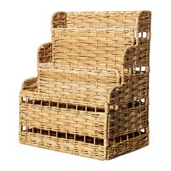 FLÄTA storage rack for writing materials, rattan Width: 25 cm Depth: 15 cm Height: 30 cm