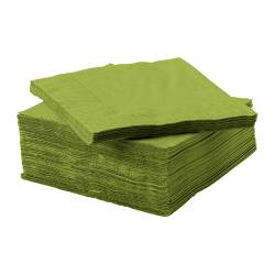 FANTASTISK paper napkin, medium green Length: 24 cm Width: 24 cm Package quantity: 50 pack