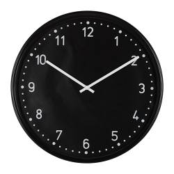 "BONDIS wall clock, black Depth: 1 ½ "" Diameter: 15 "" Depth: 4 cm Diameter: 38 cm"