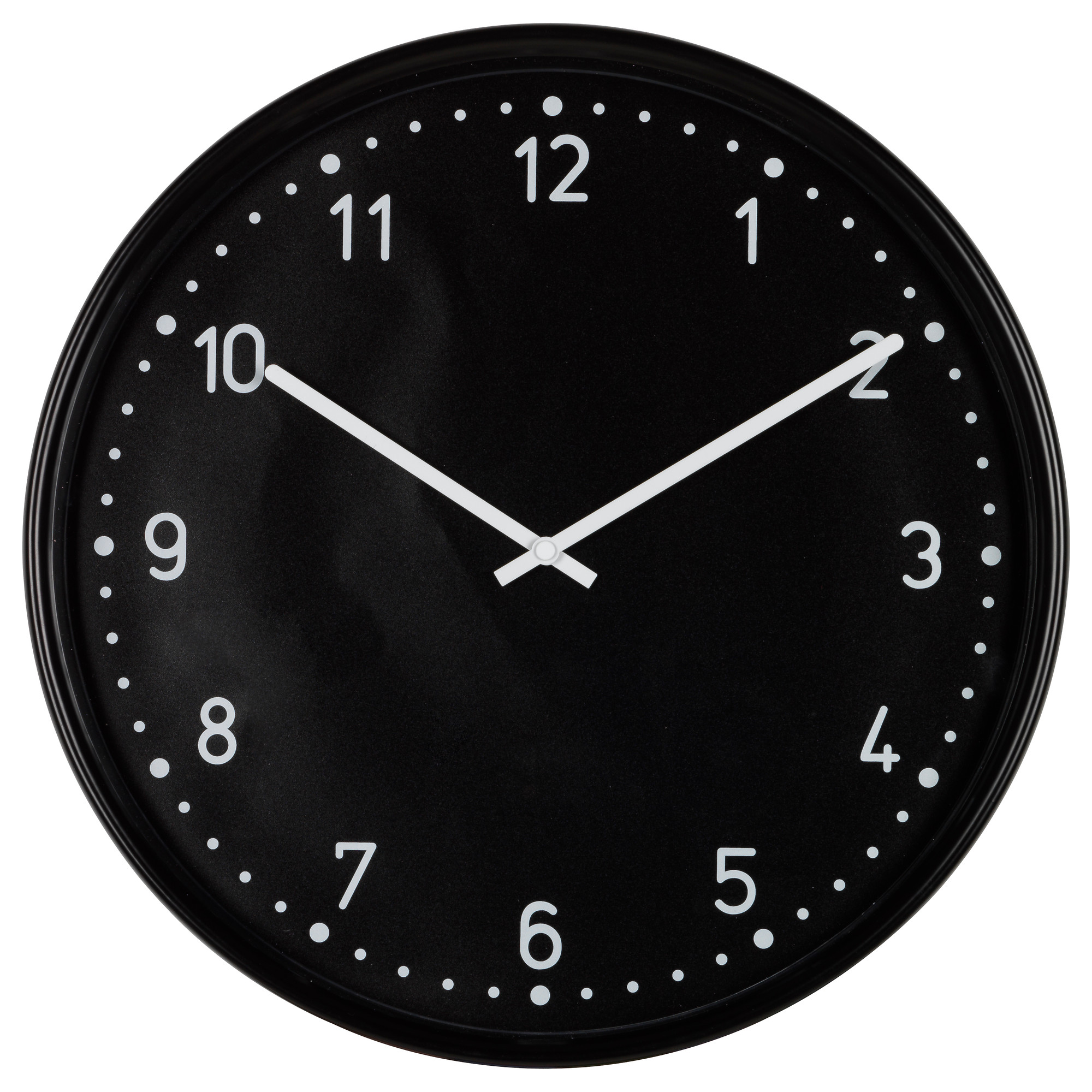 Wall clocks table clocks ikea bondis wall clock black depth 1 diameter 15 depth amipublicfo Image collections
