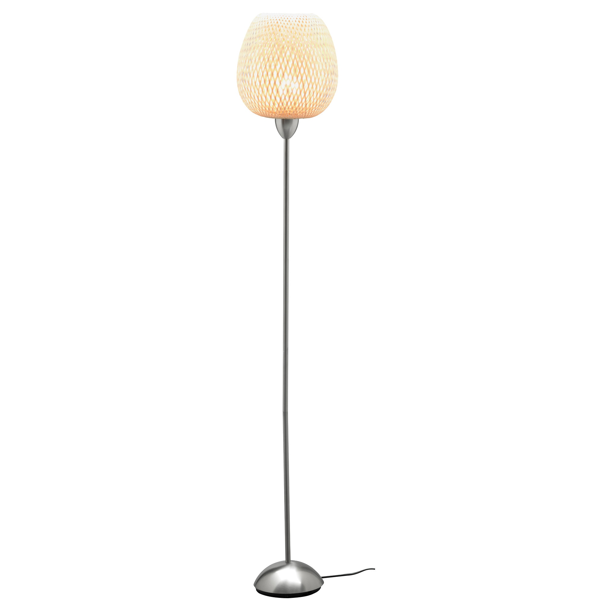 BÖJA Floor lamp with LED bulb - IKEA for Bamboo Lamp Shade Ikea  10lpwja