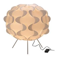 FILLSTA floor lamp, white Height: 75 cm Shade diameter: 78 cm Cord length: 330 cm